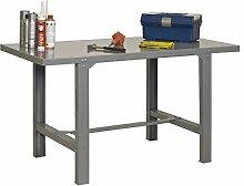 Werkbank BT-6 Metallic, Farbe: Grau, Maße: 83 x 180 x 75 cm (H x B x T), Traglast: 800 kg