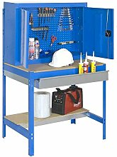 Werkbank BT-7 Box 900, Farbe: Blau / Holz, Maße: 157,50 x 90 x 75 cm (H x B x T), Traglast: 600 kg