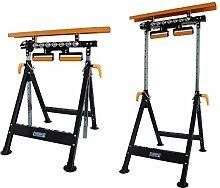 Werkbank höhenverstellbar Rollenbock Klappbock V-Rollen klappbar 200 kg Werktisch 4 in 1