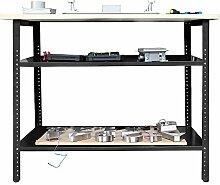 Werkbank Höhenverstellbar Werkstatt Arbeitstisch Packtisch Werktisch 120x60x95cm