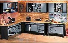 Werkbank mit 6 Schubladen Profiqualität für die
