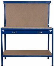Werkbank mit Schublade Lochwand Werktisch Werkstatt 155x120x60cm