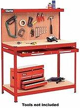 Werkbank & Schublade + Werkzeug Werkzege Rot Werkbank - Werkbank & Schublade + Werkzege, rot, Höhe: 1440 mm, Länge: 560 mm, Breite: 1150 mm, Werkzeug Material Korpus: Metall, Gewicht: 31 kg
