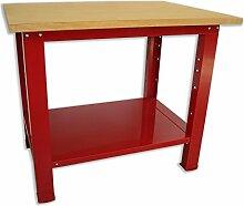Werkbank Tisch mit Holzplatte 1024x 750x 880Serie Industrie Sogi X3–09