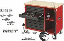 Werkbank VIGOR 800 BIG mit 8 Schubladen inkl. Tür, ro