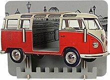 Werkhaus VW T1 Rot Garderobe Wandregal Bulli Wandgarderobe wh 9408