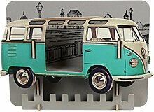 Werkhaus VW T1 türkis Garderobe Wandregal Bulli Wandgarderobe wh 9407 NEU