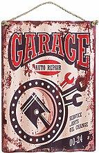 Werkstatt Blechschild Garage Auto Repair Nostalgie Metallschild Wanddeko Vintage USA