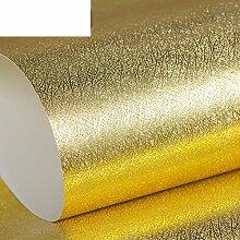 Werkzeuge solide schlicht Gold Leaf Wallpaper goldene Zeichnung Zeichnung Tapete KTVHotel Dekoration Wohnzimmer Wand-Hintergrundpapier-A