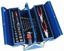 Werkzeugkasten 3-teilig inkl. Werkzeuge blau