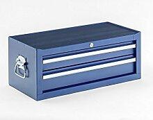 Werkzeugkiste, Aufsatz, 2 Schubladen, blau