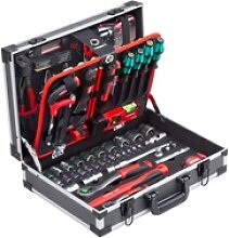 Werkzeugkoffer 131-teilig mit Knipex & Wera