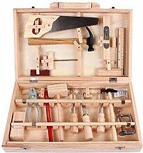 Werkzeugkoffer Holz Spielwerkzeug Holzwerkzeug