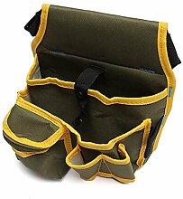 Werkzeugtaschen - TOOGOO(R)Werkzeugtasche Werkzeugguertel Guerteltasche Werkzeug Werkzeugkoffer Hammerhalter