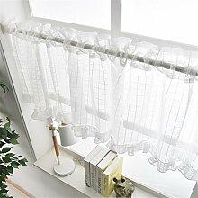 WERM® Eleganter Spitze-Vorhang-Schrank-Kaffee-halber Vorhang Monolithische Küche-Vorhänge 1pcs , 140*100cm
