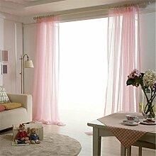 WERM® Vorhang Mode Tüll Vorhang Fenster Bildschirm Jalousien schiere Vogel Gauze Vorhang Cafe Küche Vorhang Wohnzimmer Balkon 1 Stück , pink , 2*2.7m