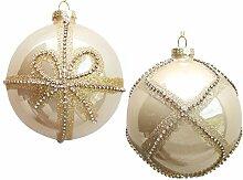 Werner Voss 2er Set Glas-Weihnachtskugeln 10 cm