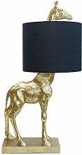 Werner Voss Tischleuchte Giraffe Schwarz Gold