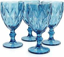 Werner Voss Weingläser Blue 4 Set Weinglas Blau