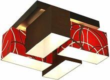Wero Design Deckenlampe Deckenleuchte Leuchte-Bilbao-004 Mix Braun/Red