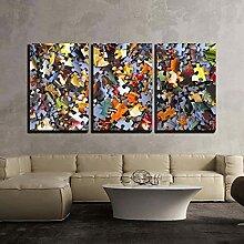 WERSD Leinwandbilder 3 Teilig Leinwand Wandkunst