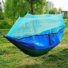 WERT Camping-Hängematte mit Moskitonetz Leichte,