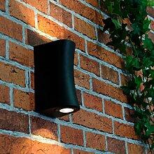 Wertige LED Wand Außenleuchte 2x 3W LED 230V / IP54 Spritzschutz / Design Wandlampe für Außen Hof Garten Beleuchtung