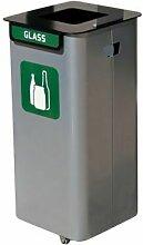 Wertstoffsammelbehälter | Volumen 70 l | Grün