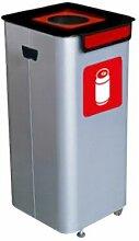 Wertstoffsammelbehälter | Volumen 70 l | Rot |