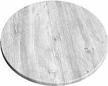 Werzalit Tischplatte, Dekor Ponderosa weiß 70 cm