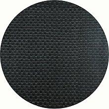 Werzalit Tischplatte, Dekor Rattan Schwarz 80 cm
