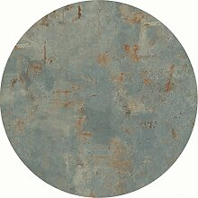 Werzalit Tischplatte, Dekor Rostsilber 80 cm rund