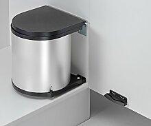 Wesco 010612-11 Einbau Abfallsammler rund Silber Abfallsammelsystem Mülleimer