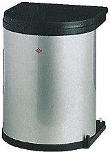Wesco 13 L Abfalleimer - silber/schwarz - Küchen Mülleimer Abfallsammler