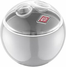 WESCO 223501-76 Miniball Aufbewahrungsbehälter, Vorratsdose, Metall, cool grau, 13 x 13 x 13,8 cm