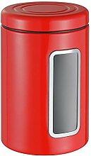 Wesco 321 206-02 Vorratsdose, Edelstahl, rot, 12.5 x 12.5 x 18.9 cm