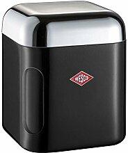 Wesco 321202-62 Vorratsdose eckig, Kunststoff, schwarz, 11 x 11 x 13 cm