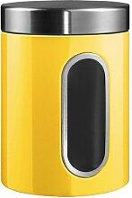 Wesco 321204-19 Vorratsdose mit Fenster - 2 L, lemongelb