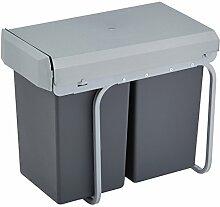 Wesco 755611-11 Einbau-Abfallsammler Double-Boy 2x