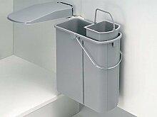 Wesco Abfalleimer ÖKO 45/2 Küchen Mülleimer Abfallsammler Schranktürmontage
