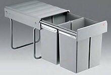 Wesco Double-Master 40 DT Küchen Mülleimer 2x 16 Liter Abfalleimer