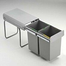 Wesco Doubleboy Deluxe 30DT 2x15 Liter Bodenmontage Küchen Mülleimer
