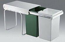 Wesco Doubleboy Original 2x15 Liter Küchen Mülleimer Abfallsammler