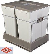 Wesco Einbau Abfallsammler 2x30 Liter Auszug Mülleimer Müllsammler Abfalleimer