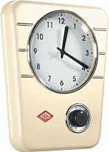 Wesco - Küchenuhr, Wanduhr, Uhr - Farbe: Beige, Mandel - Retro