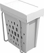 WESCO LAB1294WLD-10 Mülltrennsystem, Plastik, Weiß, 27.5 x 56 cm