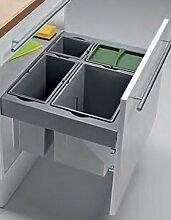 Wesco Pullboy Premium 3D Abfalleimer 60-er Schrank Frontblenden Mülleimer *40617