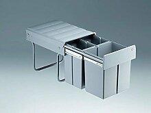 Wesco Trio-Master 40 DT 1x16 / 2x8 Liter Küchen Mülleimer Abfalleimer Bodenmontage Vollauszug