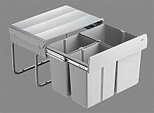 Wesco Trio Shorty 50 1x15 / 2x 7,5 Liter Küchen Mülleimer Bodenmontage Vollauszug