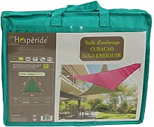 weSonnensegel Sonnenschutz, dreieckig 3 x 3 x 3 m aus wasserabisendem Material - Farbe TÜRKIS